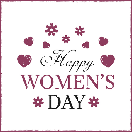 Happy Womens Day template card.