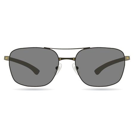 illustration of realistic sun glasses on white background Stock Vector - 19870170