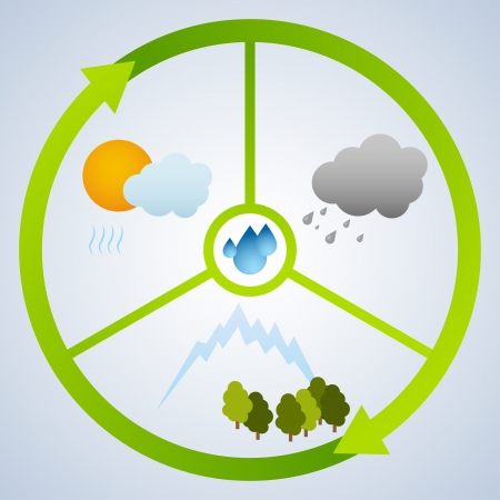 Water cycle Stock Vector - 19870159