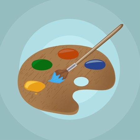 tints: Illustration on isolated paint brush and backgrounds