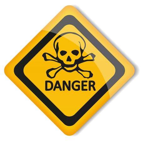 electroshock: Label danger Illustration