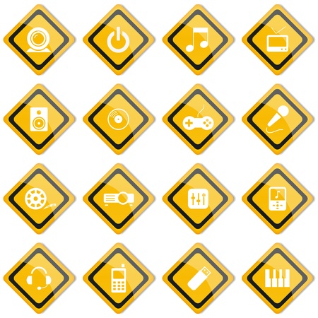 Set icon and design elements Stock Vector - 19856233