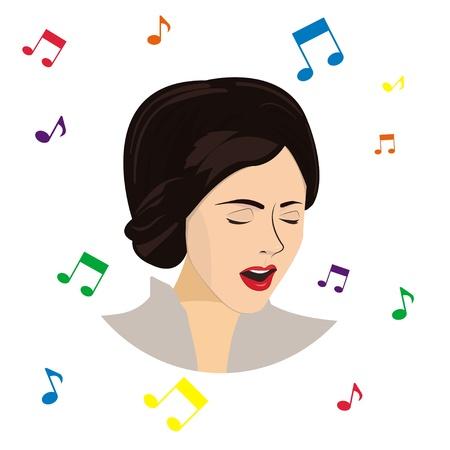 geschlossene augen: Sie singt mit geschlossenen Augen