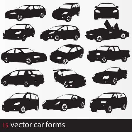 minivan: Cars silhouette