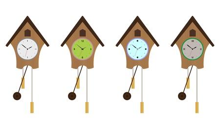 reloj cucu: Set reloj de cuco. Vectores
