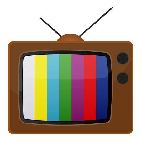 Retro tv, test pattern. Stock Vector - 19870380