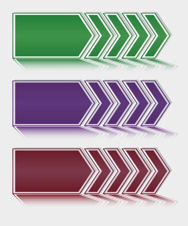 Vetor illustration arrows download. With shadow. Stock Vector - 19870421