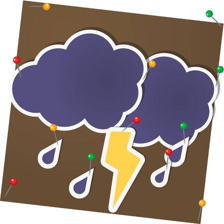 lightning arrow: cloud and lightning