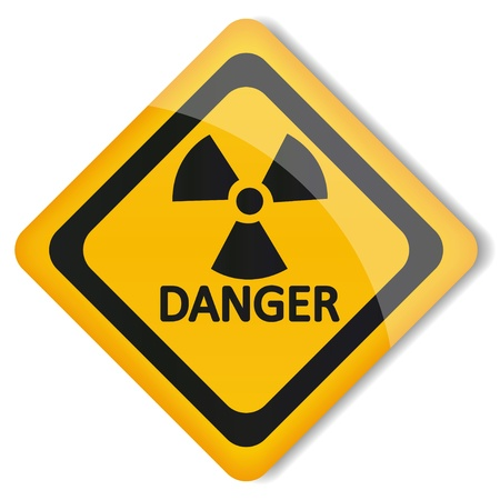 radioisotope: illustration label radiation hazard