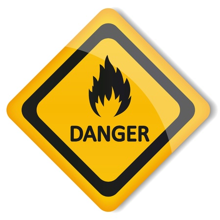 illustration label flammable Stock Vector - 19870276