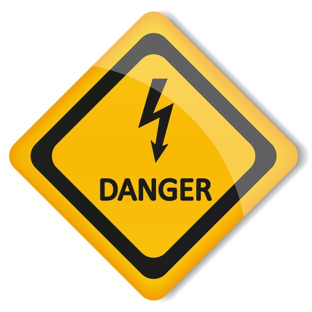 illustration label electricity hazard Vector