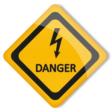 ilustración peligro electricidad etiqueta Foto de archivo - 19870265