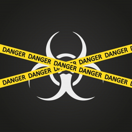 illustration danger tape bio hazard Stock Vector - 19870355