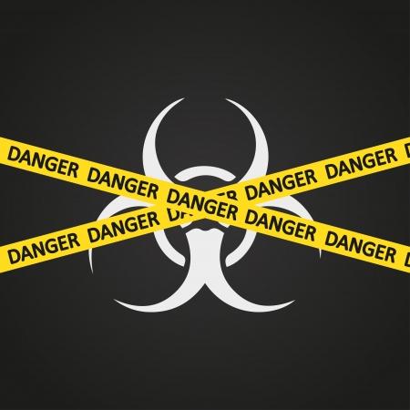 hazard tape: illustration danger tape bio hazard