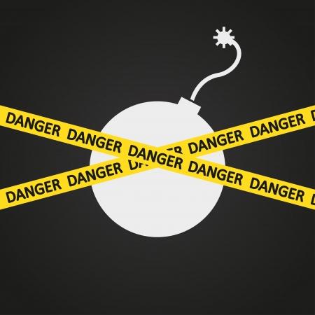 illustration danger tape explosive Stock Vector - 19870328