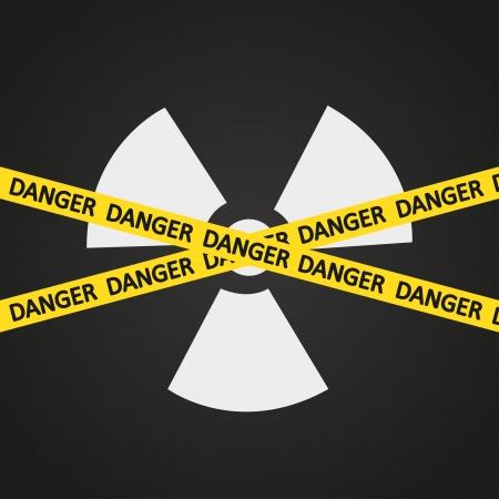 illustration tape radiation hazard Vector