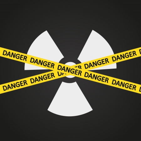 radiation hazard: illustration tape radiation hazard