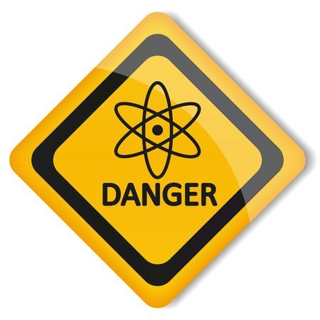 radioactive: illustration label gamma radiation