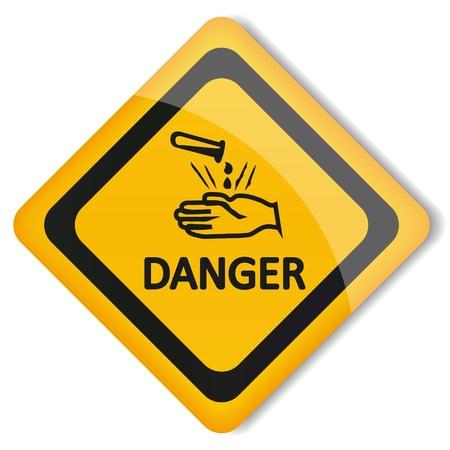 sustancias toxicas: ?cido ilustraci?n etiqueta Vectores