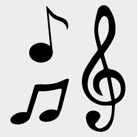 illustration music note symbols Stock Vector - 19870185