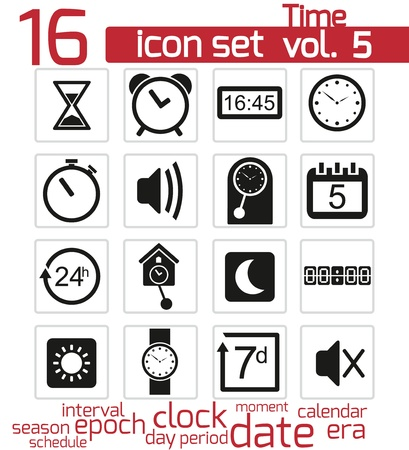 Time and clock Icons Stock Vector - 20024088