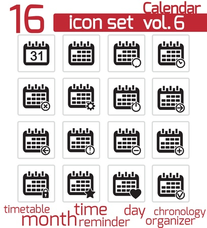 Calendar Icons Stock Vector - 20026663