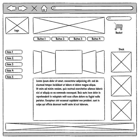 prototype: Prototype website, usability Illustration