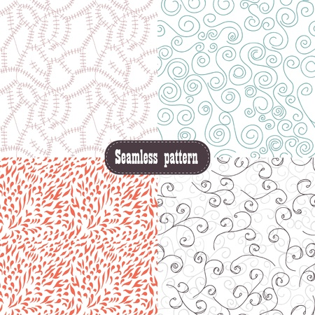 set floral background seamless Vector