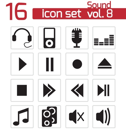 Sound icons set Stock Vector - 20024090