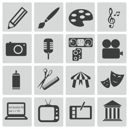 Vector zestaw ikon czarnej sztuki