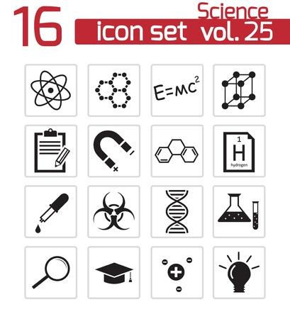 Vector black science icon set Stock Vector - 21959831