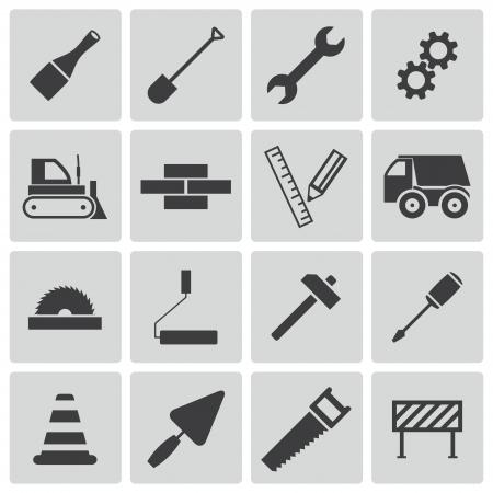 architecture pictogram: black  construction icons set
