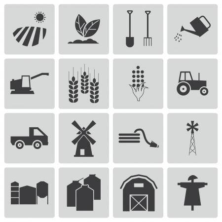 landwirtschaft: schwarz Landwirtschaft Icons