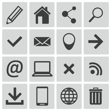 Vector black  web icons set Vector