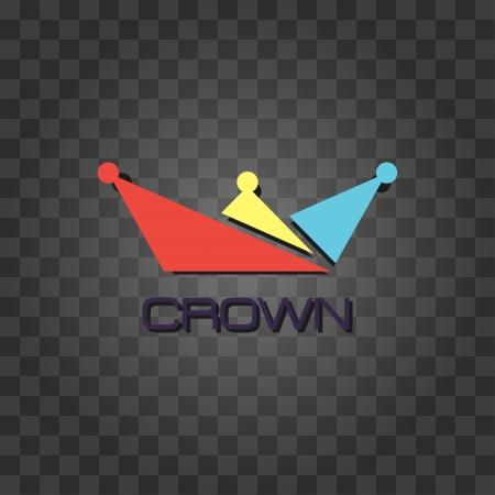 Vector Crown icon Checkers background Vector