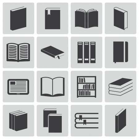 encyclopedia: Vector black  book  icons set