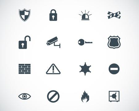 surveillance: black  security icons set