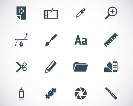 color palette: black  graphic design  icons set