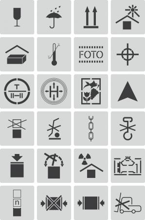 marking: black  marking cargo  icons set