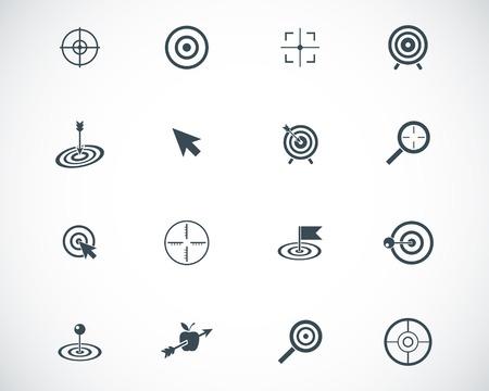 target arrow: black  target  icons set Illustration