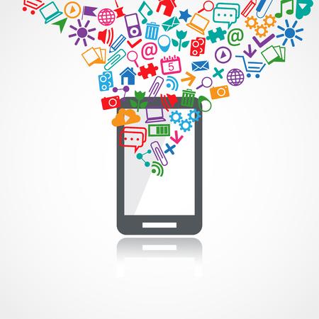 Mobile conceptual icons