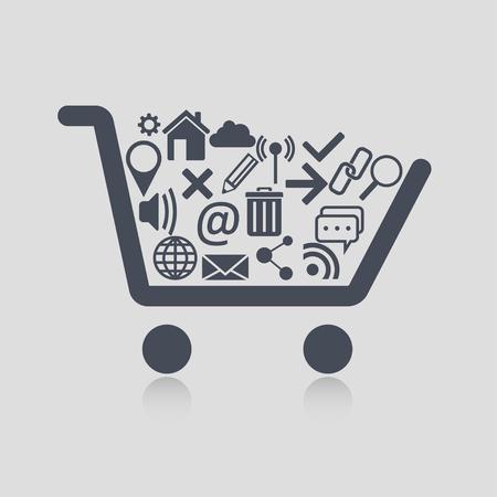cart: Shopping cart web Illustration