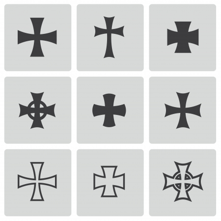 grunge cross: Vector choppers crosses