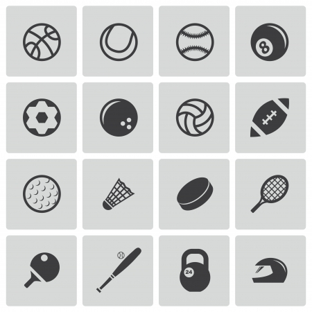 Vector black sport icons set Vector