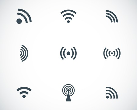 wi fi icon: Vectvor black wireless icons set Illustration