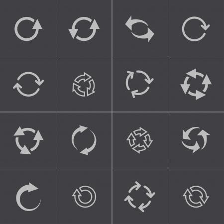 refresh: Vector black refresh icons set