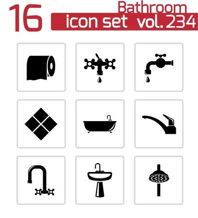 papel higienico: iconos baño establecido en el blanco