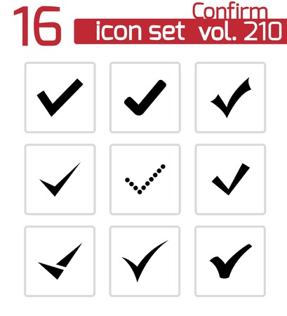 confirm: confirm icons set on white