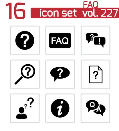 FAQ icons set on white Stock Vector - 24598753