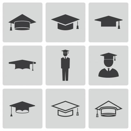 licenciado: iconos capitalizaci�n acad�micos establecidos Vectores